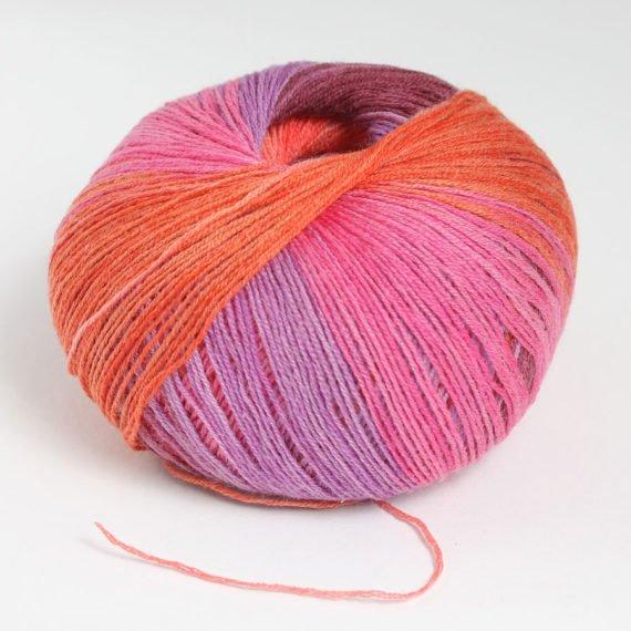 włóczka merino 400 lace color